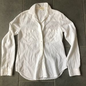 Anthropologie Cloth & Stone white shirt size XS